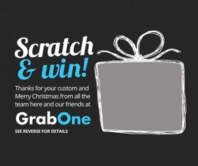 GrabOne's Christmas Scratch & Win Promo